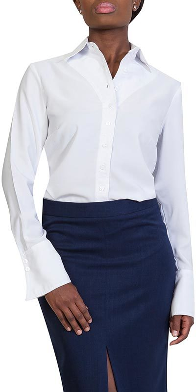 classic blouse white front